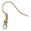 Fish Hooks (Brass) Gold With Ball And Spring
